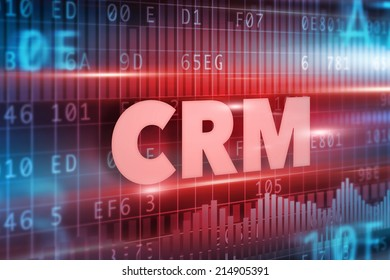 CRM - Customer Relationship Management concept red text