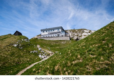 Crna prst mountain cottage in Slovenian alps - Shutterstock ID 1428221765
