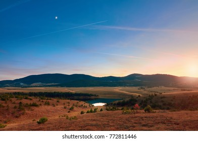 The Crni Rzav river and the highlands of Zlatibor, Serbia.