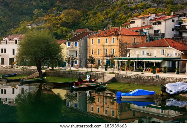 Crnojevica village on the river, Montenegro, Balkans