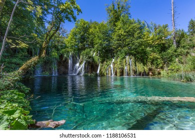 Croatia. 08.14.16. Plitvice Lakes National Park, Croatia. The national park was founded in 1949 and situated in the mountainous karst area of central Croatia. The park is a UNESCO World Heritage Site.