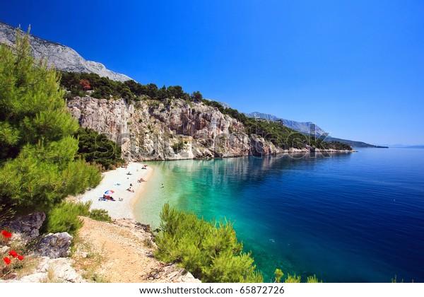 Croatia, adriatic sea background beach