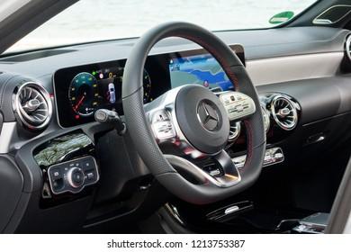 Croatia, Balkans March 2, 2018 : Mercedes-Benz A-Class 2018 Wheel March 2 2018 in Croatia.