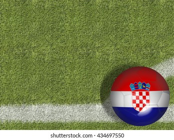Croatia Ball in a Soccer Field