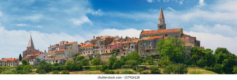 Croatia, Buje. Panorama of the city.