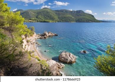 Croatia - The coast of Peliesac peninsula near Zuliana