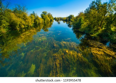 Croatia, countryside landscape, river Korana in Karlovac county