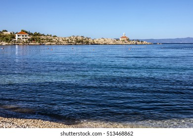 Croatia, Dalmatia, Adriatic Sea panoramic landscape - Makarska resort