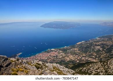 Croatia, Dalmatia, Biokovo national park landscape, Makarska resort