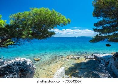 Croatia - Dalmatia - Iz island - Beach at Brsani
