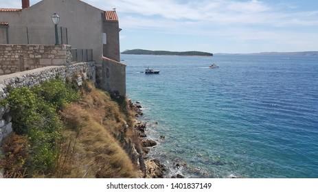 Croatia island Rab, an old city on an island