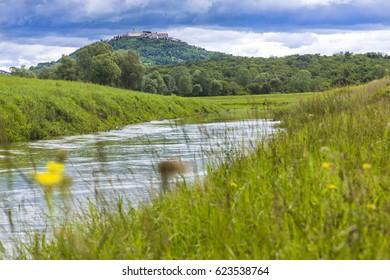 Croatia, Istria, Mirna valley, view to Motovun