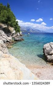 Croatia landscape - Adriatic Sea coast. Marusici in Dalmatia. Makarska Riviera.