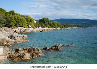 Croatia landscape with turquoise water.