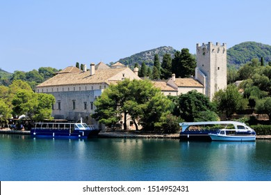 Croatia, Mljet, august 28 th 2019 , monastery on saint Mary s island in national park Mljet