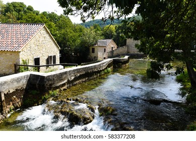 Croatia - National Park. UNESCO Heritage object. Waterfalls, River and Mountains