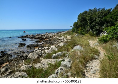 Croatia, Novalja - Typical footpath along the coast
