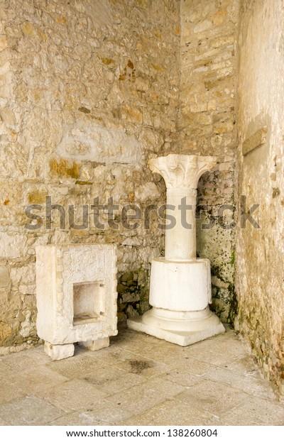 Croatia - Porec on Istria peninsula. Euphrasian Basilica - UNESCO World Heritage Site.