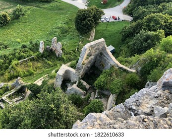 Croatia. Ruins of old ancient stone fortress