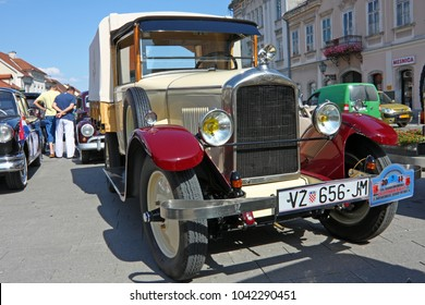 CROATIA SAMOBOR, 17 JULY 2011: Peugeot 201 pick-up truck, ''14. Oldtimer Rally'' in Samobor, Croatia