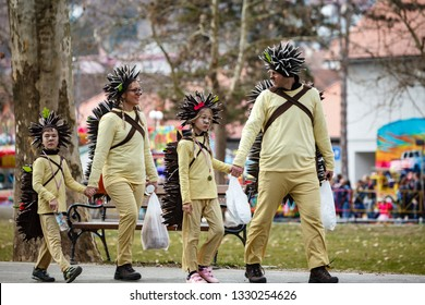 Croatia, Samobor - March 2, 2019: One of the oldest carnival festivities in Croatia