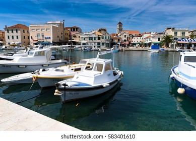 Croatia - September 4, 2016 Boats in the Old City Port