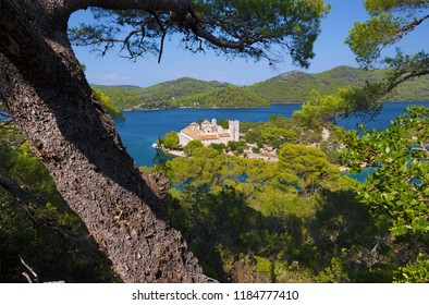 Croatia - The St.Mary benedictine monastery on the Mljet island.