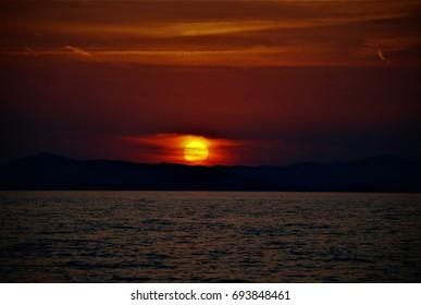Croatia, sunset