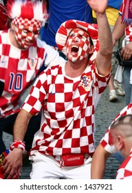 croatian fan at world championship 2006 in Berlin