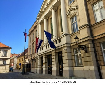 Croatian parliament building in Zagreb