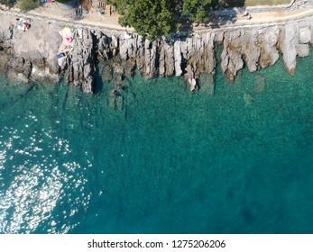 Croatian sea aerial shot