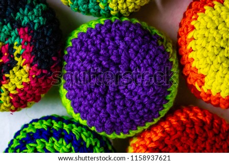 Crochet Hacky Sacks Stock Photo Edit Now 1158937621 Shutterstock