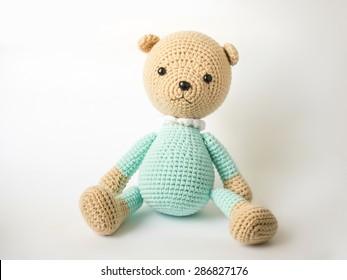 Crochet knitting cute teddy bear