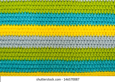 crochet pattern closed up