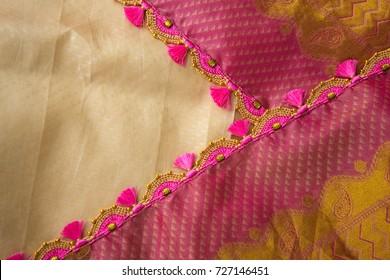 Crochet, Tassel Fashion Designing works for clothing (Saree)