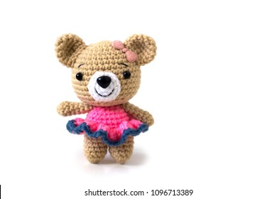Crochet Sweet Bear in Dress Free Plush Pattern | 280x390