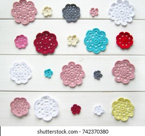crochet thread flowers