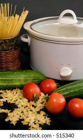 Crock pot with noodles