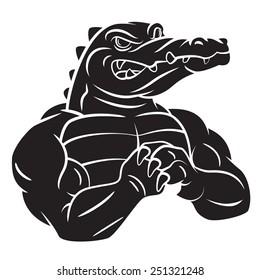 Crocodile Strong Black tattoo