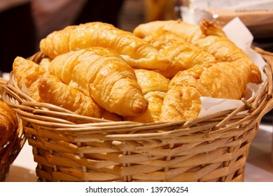 croissant in basket