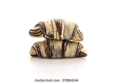 croissant - danish bread with chocolate