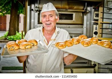 Croissant making