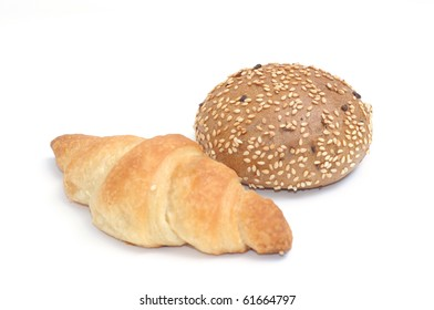 croissant and malt roll