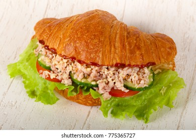 Croissant with minced meat
