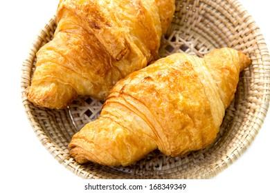 croissant on white background