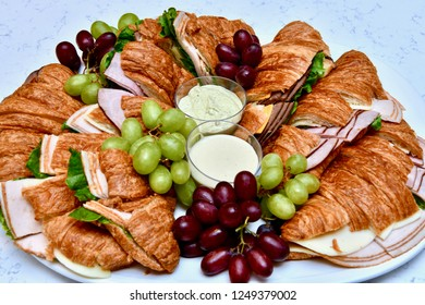 Croissant sandwiches party tray