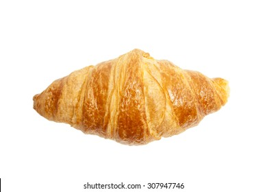 Croissant top view isolated