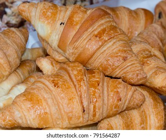 Croissants on a market