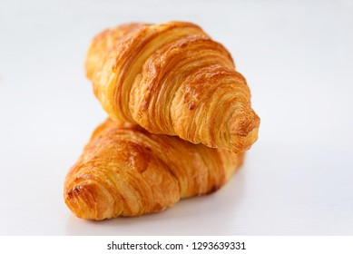 Croissants on white background
