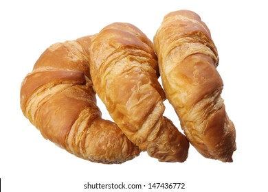 Croissants on White Background